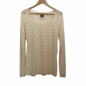 Free People Intimately Ivory Scandalous Lace Top